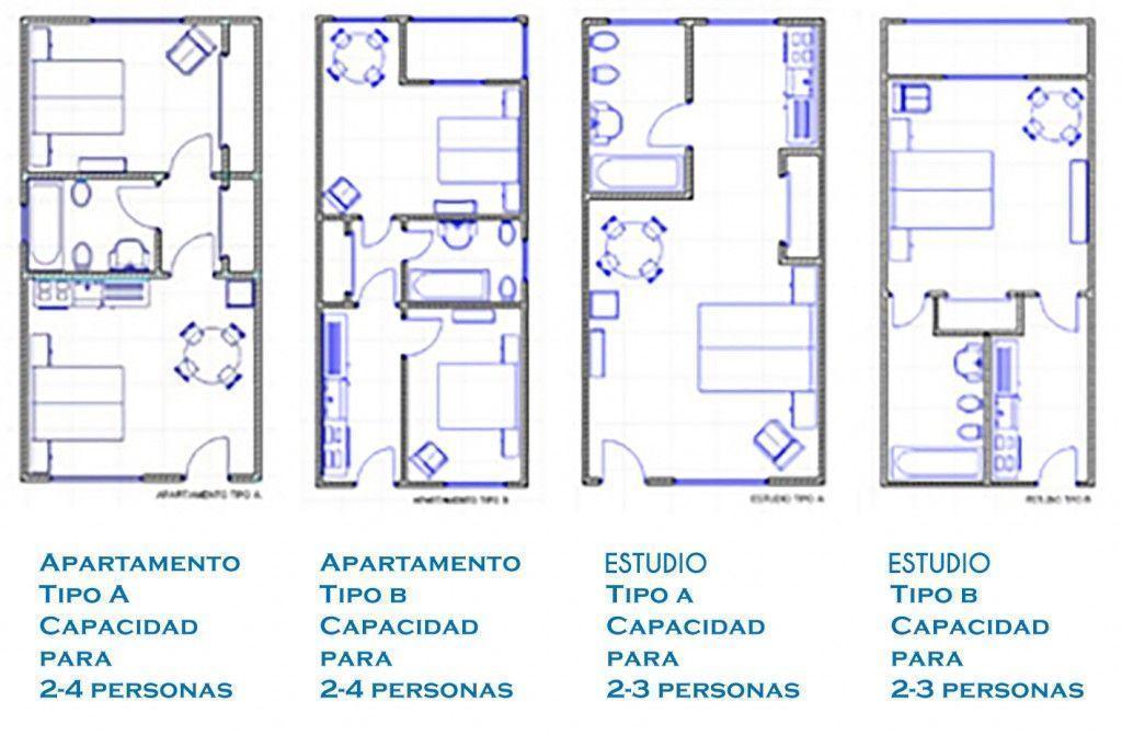 Instalaciones y servicios hotel cons da garda for Distribucion apartamento 50 m2
